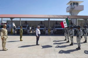 Nuevo cuartel de la Guardia Nacional en Bavispe.